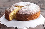 Torta al latte caldo (Hot milk sponge cake)